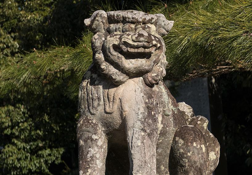komainu sanctuaire shinto Tsuruhane Hiroshima