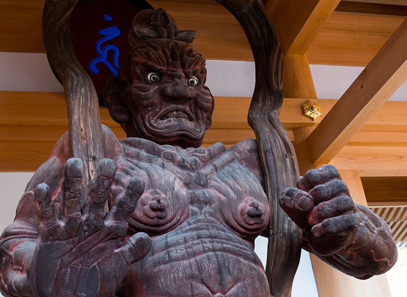 statue de gardien nio temple Myojoin Hiroshima