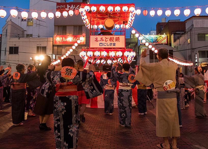 Bon-odori, Shintenchi-koen, Tokasan Matsuri, Hiroshima
