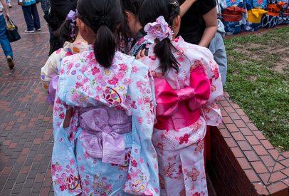 Enfants en yukata, Shintenchi Koen, Tokasan, Hiroshima