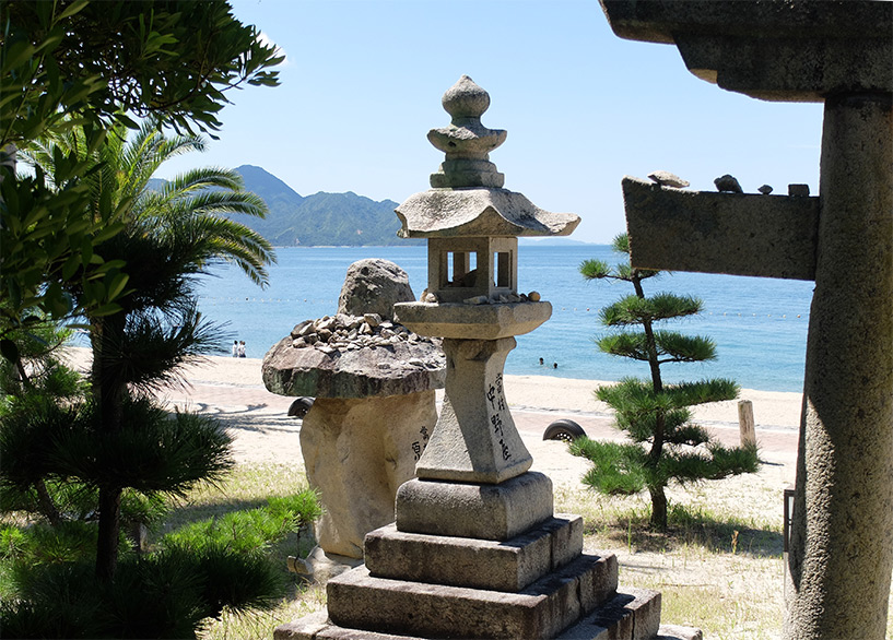 Sanctuaire Irukamyo sur la sun beach d'Etajima