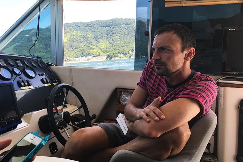 à bord d'un cruiser en mer intérieure de Seto