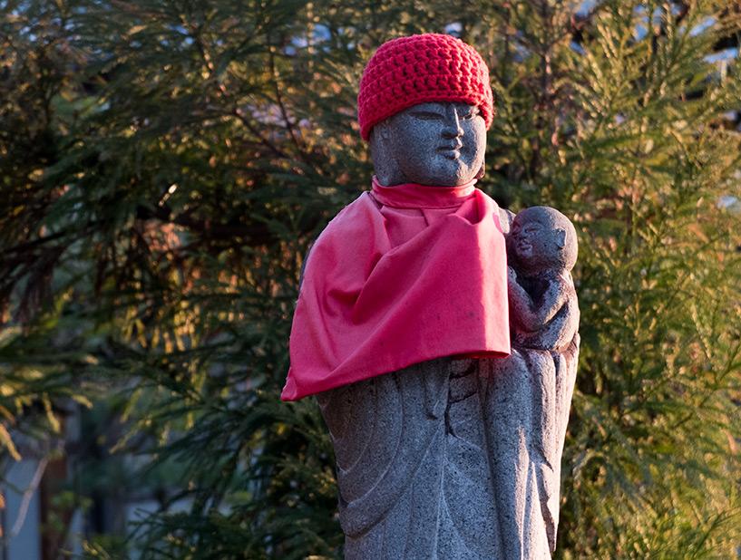 statue jizo, temple Fudo-in, Hiroshima