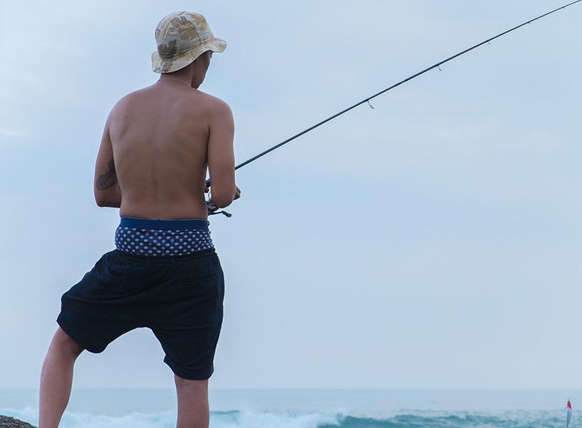 Pêche, Ozuna Beach, Kaifu, Tokushima